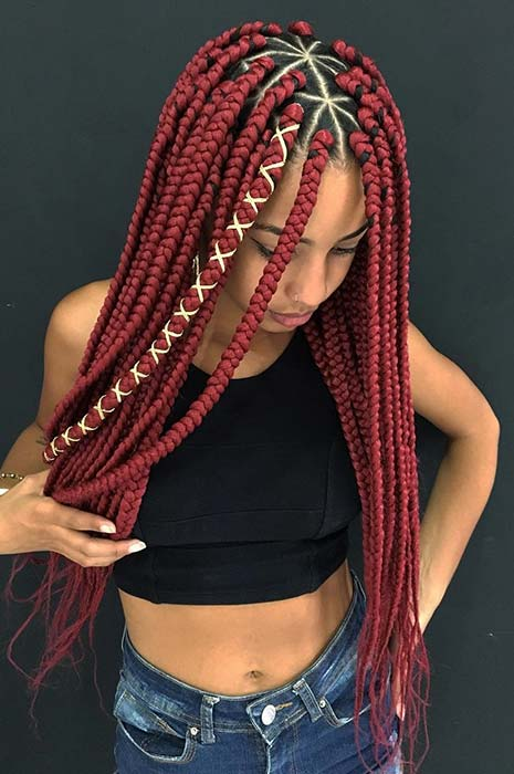 Pretty Triangle Braids Hairstyles You Need To See Crazyforus