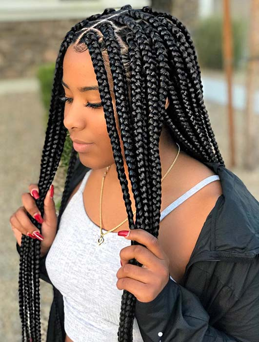 Pretty, Medium Crochet Box Braids