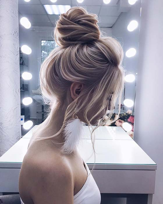 Elegant Wedding Updo for Long Hair