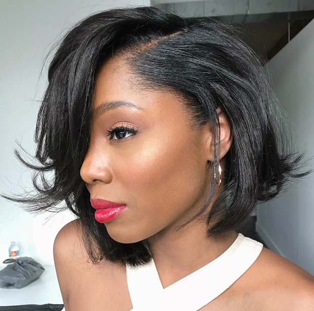 Chic Short Bob Haircut for Black Women