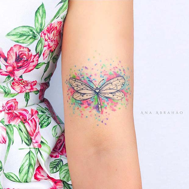 Pretty Dragonfly Tattoo Idea