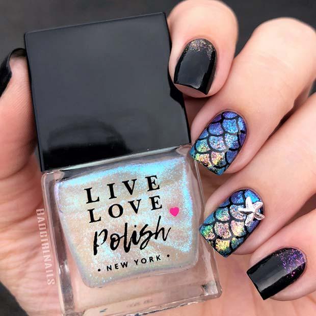 Cute Mermaid Nails