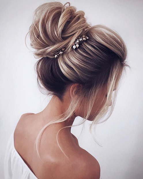 Pretty, Accessorized High Bun