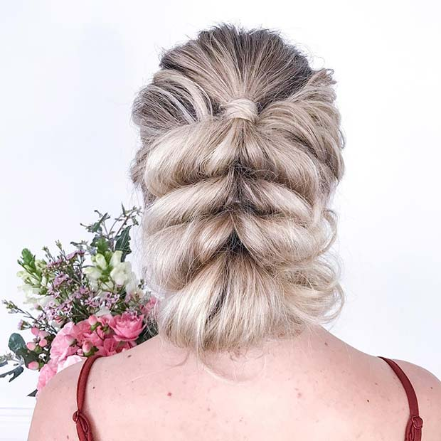 Pull Through Braid Updo