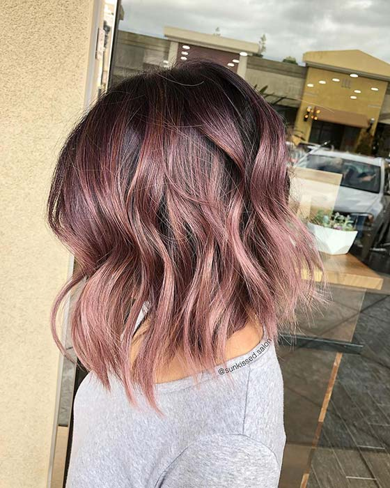 Trendy Rose Gold Bob