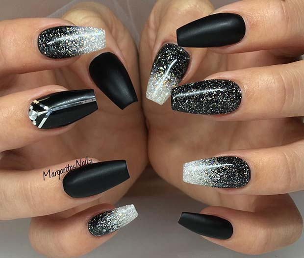 21 Bold And Edgy Black Coffin Nails Crazyforus