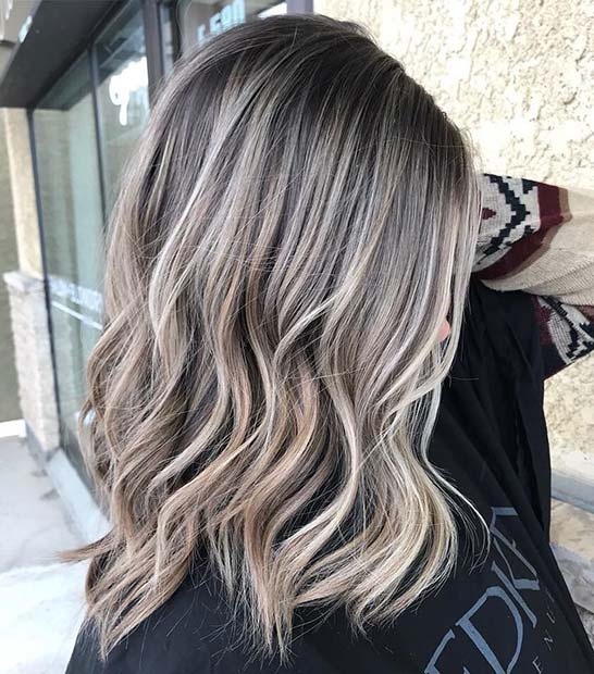 Black Roots with Cool Blonde