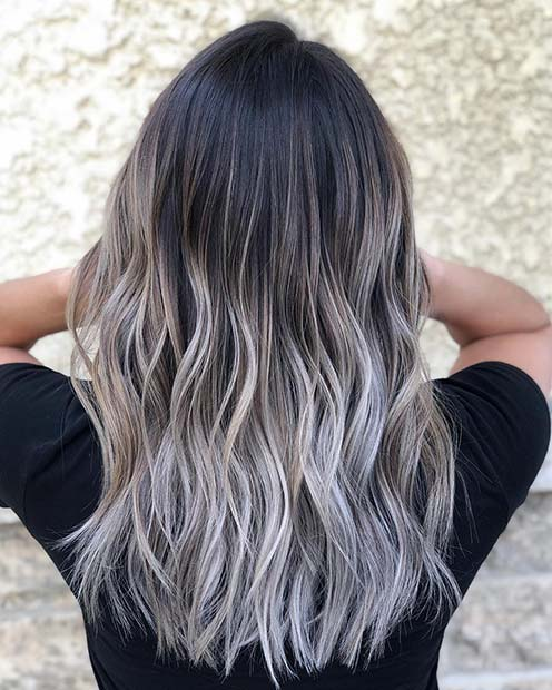 Black and Icy Blonde Hair