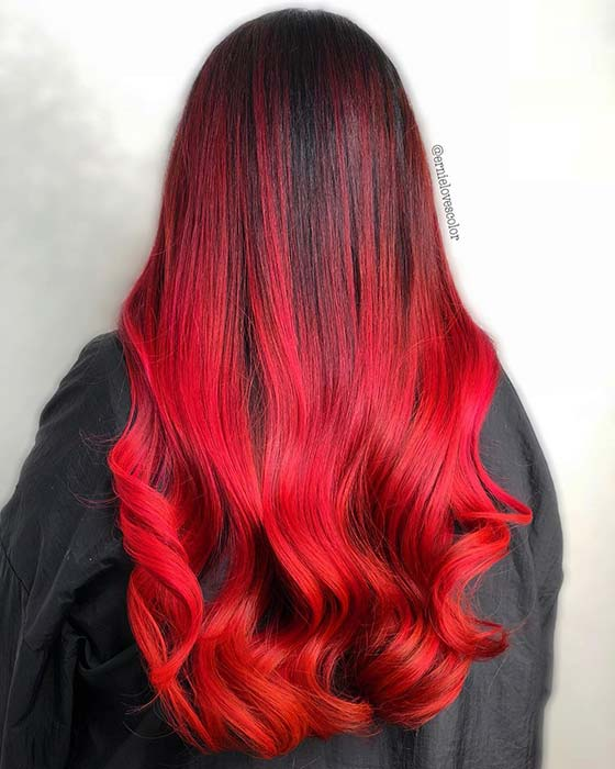 Bold Red and Black Hair