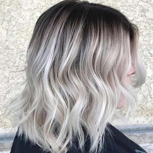 Platinum Blonde and Black Hair