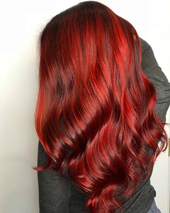 Spicy Red Hair Color Idea