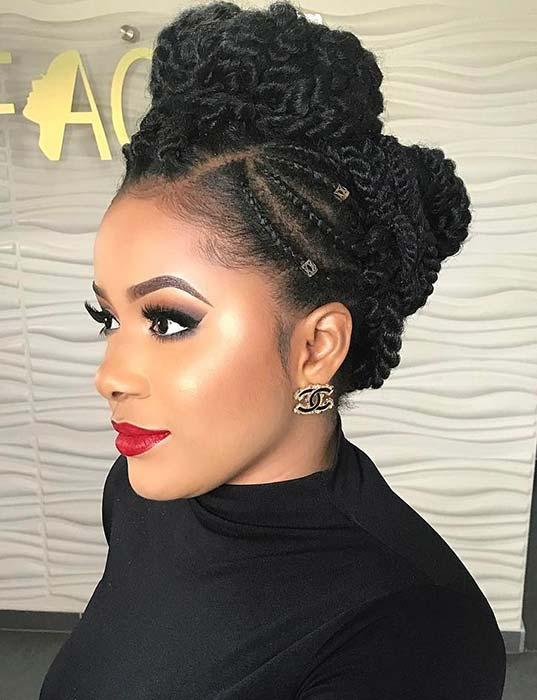 Gorgeous Twist Updo for Black Women