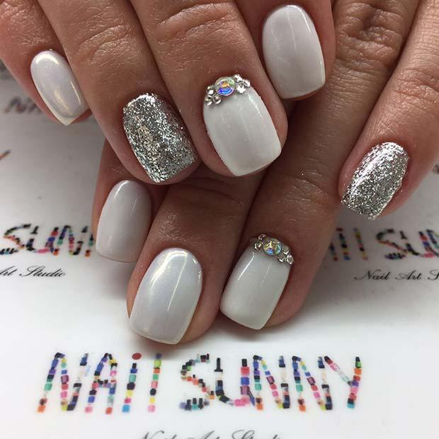 Wedding Nail Design for Short Nails