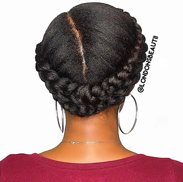 Chic Double Halo Braid Style