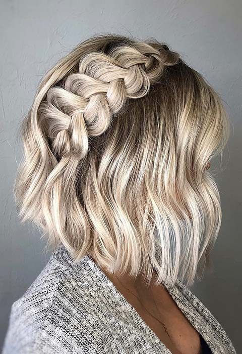 Chunky Dutch Braid for Short Hair