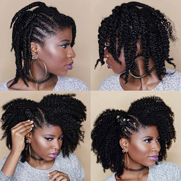 Natural Hair Style for Medium Length Hair