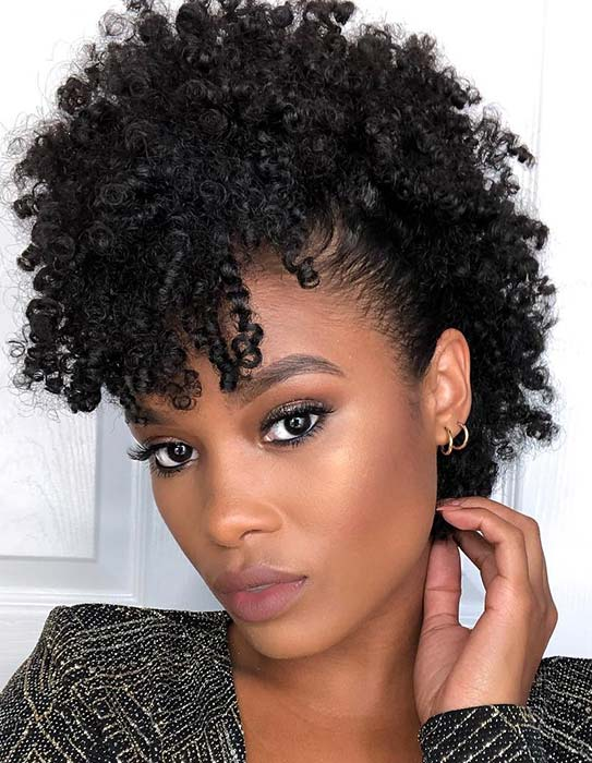 Trendy, Faux Hawk Hairstyle for Natural Hair