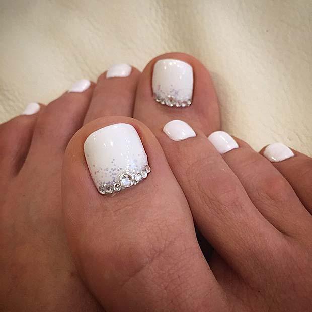 Wedding Toe Nail Design