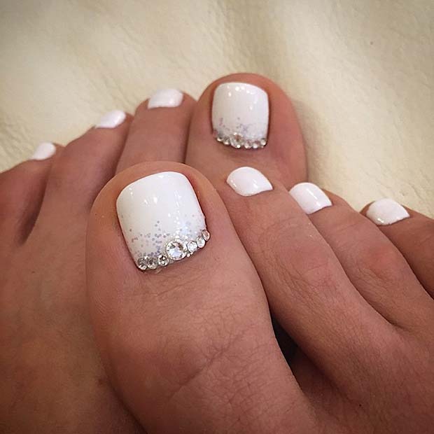Wedding Toe Nail Design