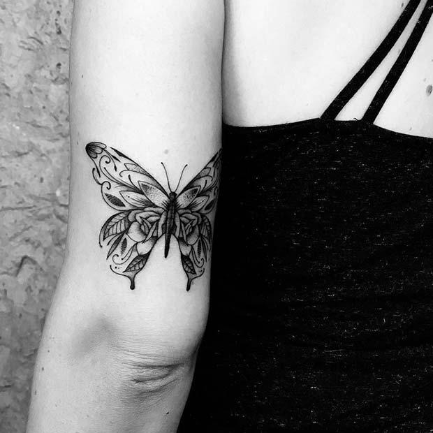 Beautiful Butterfly Arm Tattoo