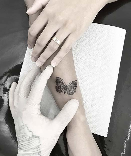 Cute, Small Butterfly Tattoo