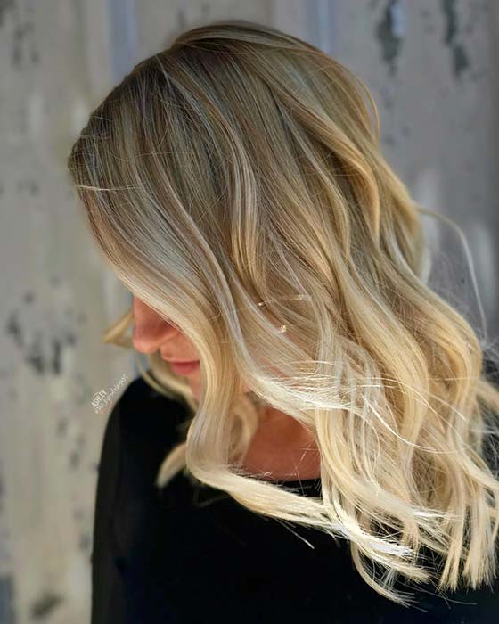 Dark Blonde to Light Blonde Ombre