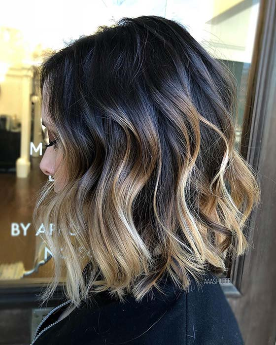 Dirty Blonde Ombre Bob