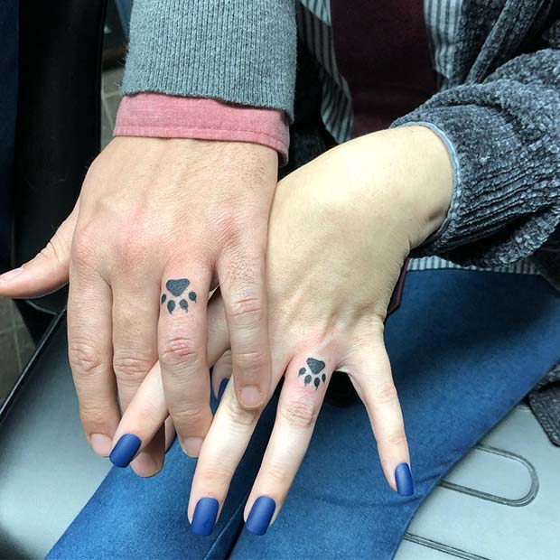 Cute Paw Print Tattoos