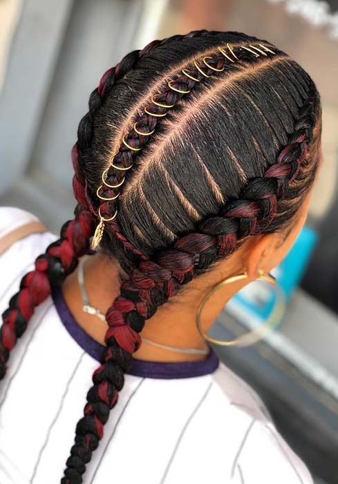 Two Feed in Braids with Accessories