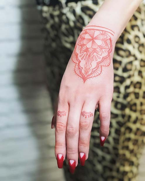 Geometric Hand and Wrist Tattoo