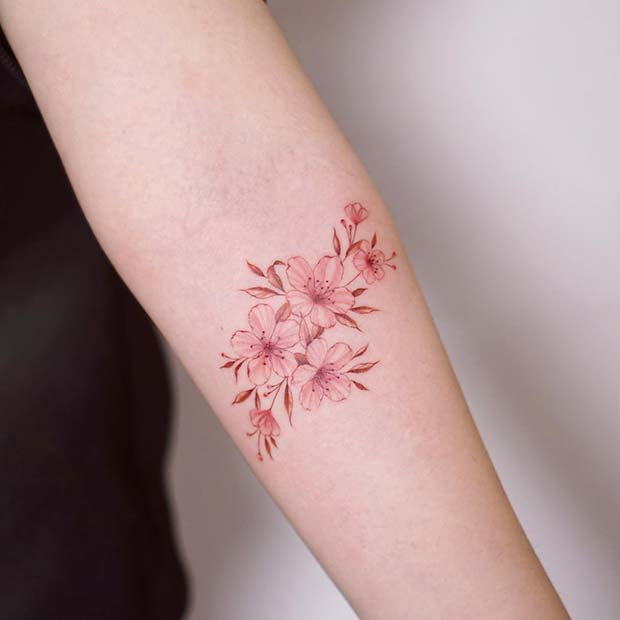 Stunning Floral Tattoo Design