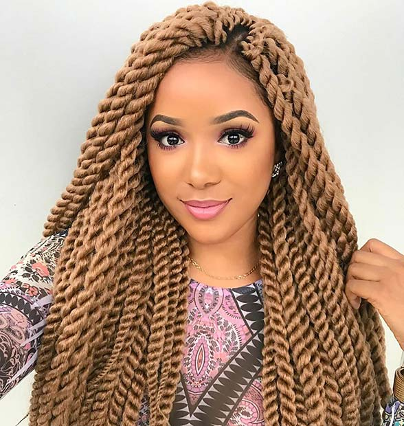 Beautiful Blonde Twists