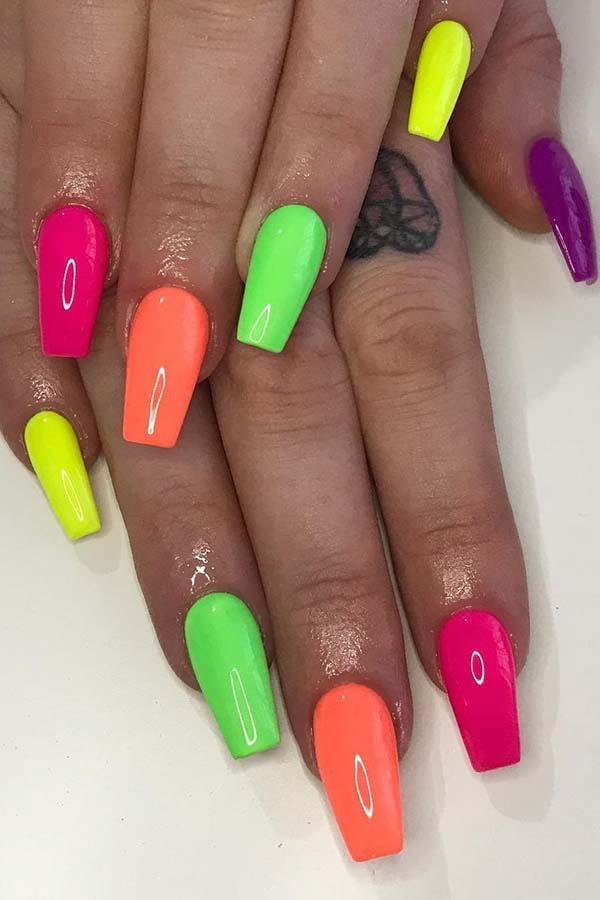 Cute and Colorful Nail Idea