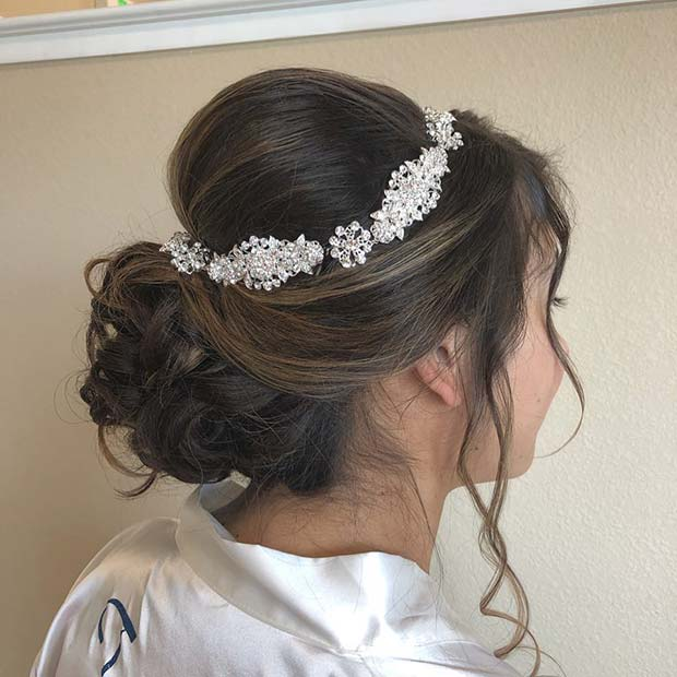 Updo with Sparkly Accessory