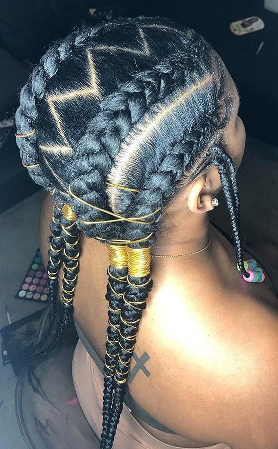 Trendy Cornrow Braids for Summer