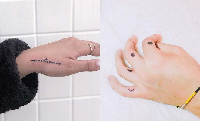 21 Small Hand Tattoos And Ideas For Women Stayglam