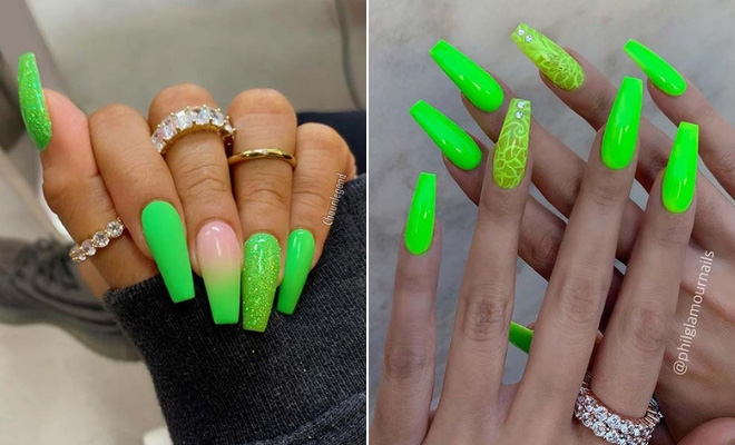 23 Neon Green Nails To Inspire Your Summer Manicure Stayglam