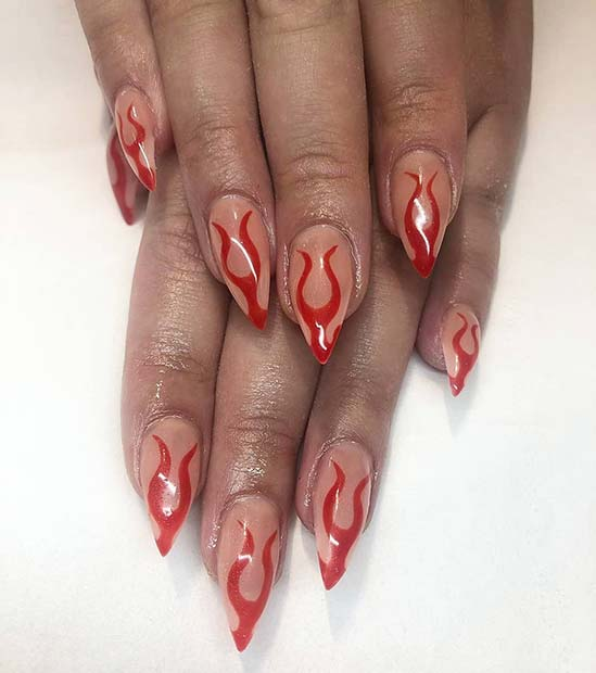 The Newest Summer Manicure Trend: Flame Nails