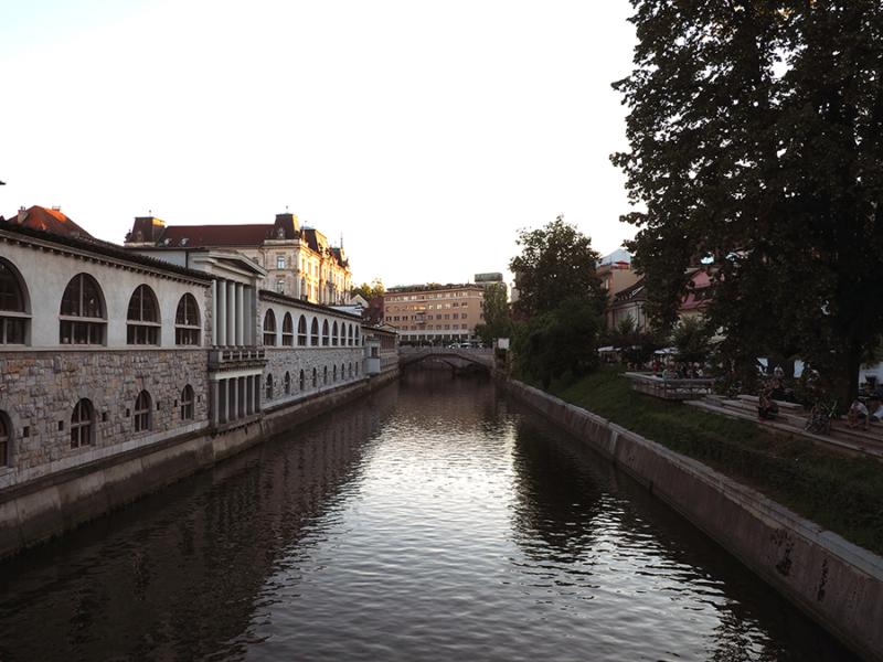 The view from Butcher's Bridge in Ljubljana, Slovenia.   via Stay gold Autumn
