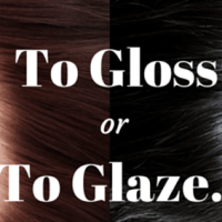 ABOUT HAIR GLOSS AND HAIR GLAZE...