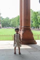 Indian girl in Red Fort, Delhi, India