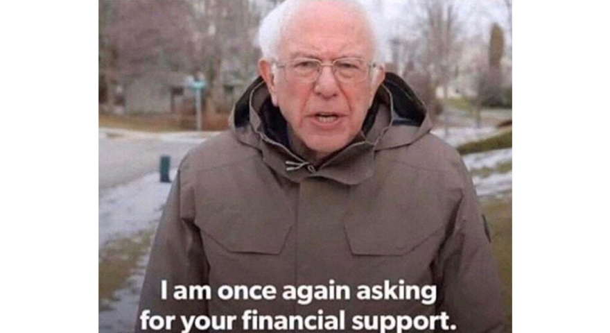 Image result for Bernie i'm once again