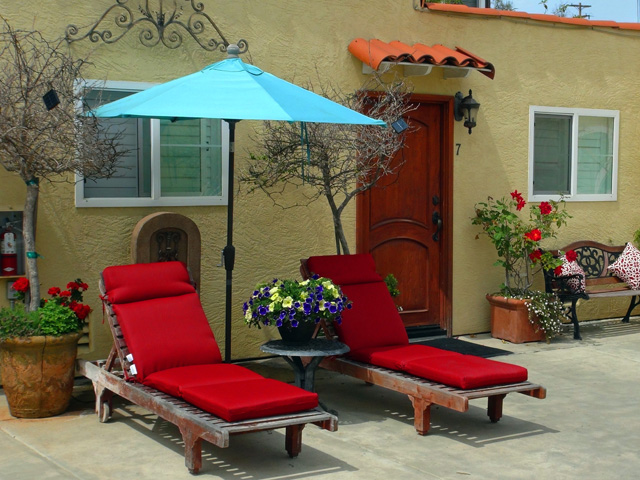 Relax in our beautiful patio area.