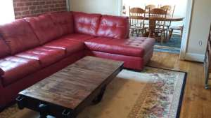 red sofa in #1