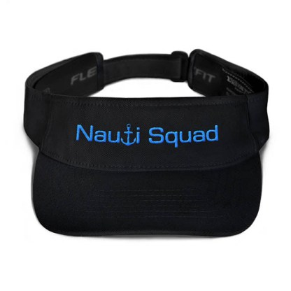 Nauti Squad Visor in Black with Aqua