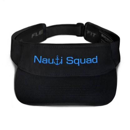 Nauti Squad Visor in Black with Aqua