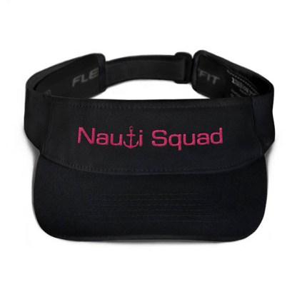 Nauti Squad Visor in Black with Pink