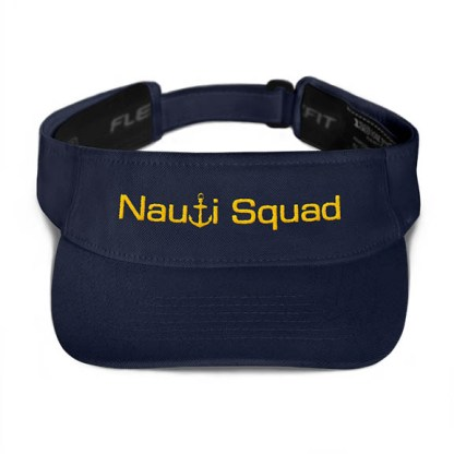 Nauti Squad Visor in Navy with Gold