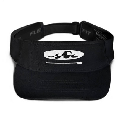 Paddleboard visor in Black with Black