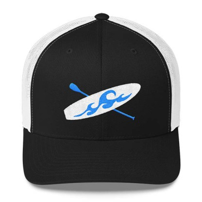 Paddleboard Trucker Hat in Black and White